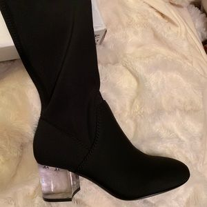 Aldo black knee high boots